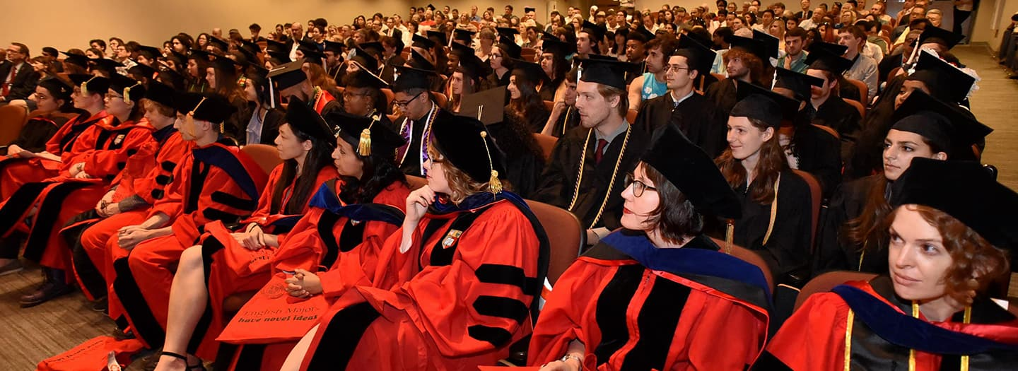Grad Students Seated At Commencement