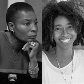 Photo of Hortense Spillers next to photo of Alexis Pauline Gumbs