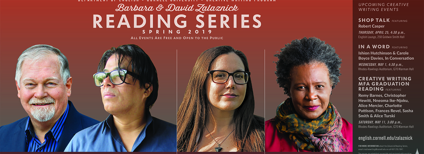 Spring 2019 Reading Series Banner